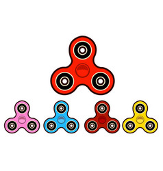 Set of hand spinning machinefidget spinners of vector
