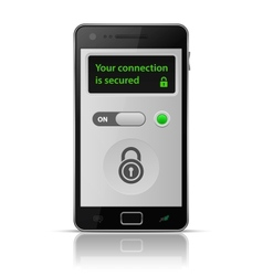 Smartphone secure connection vector image