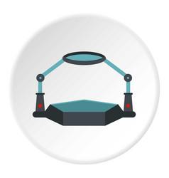 Table magnify icon circle vector