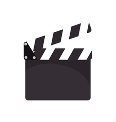 cinema clapboard device vector image