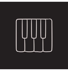Piano keys sketch icon vector image