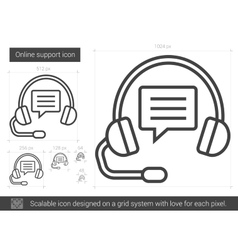 Online support line icon vector