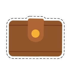 Wallet money travel cut line vector