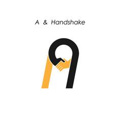 Creative a letter icon abstract logo design vector