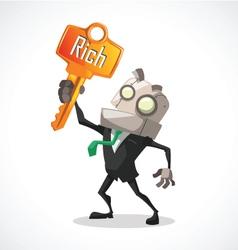 Businessman key rich vector