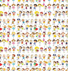 Seamless design of a group of people vector