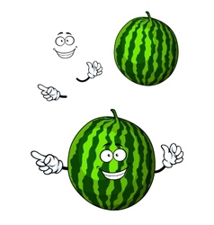 Fun happy cartoon watermelon character vector
