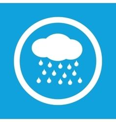 Rain sign icon vector
