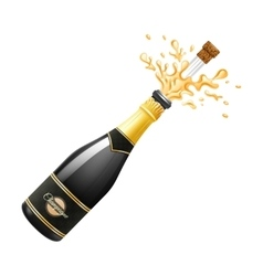 Champagne explosion vector