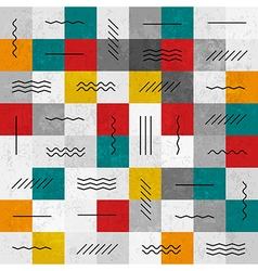 Seamless pattern geometric lines vector