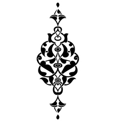 Antique ottoman turkish design seven vector