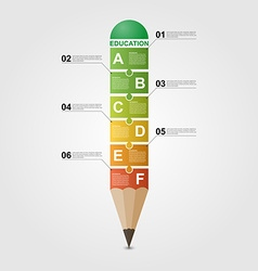 Education pencil infographic design template vector