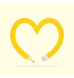Pencil heart vector