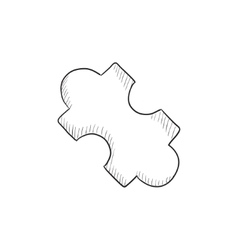 System part sketch icon vector