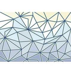 Abstract glass triangles 3d background vector image