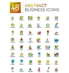 Abstract logo set collection of modern geometric vector image