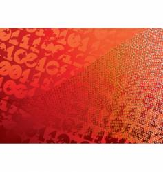 abstract orange background digits grunge vector image