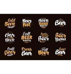 Beer Label and Logos Lettering vector image vector image