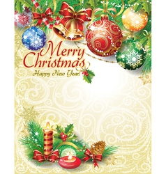 Christmas template design vector image vector image