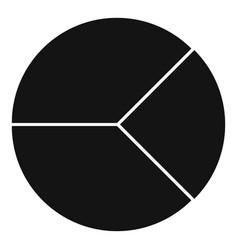 Circle graph icon simple vector