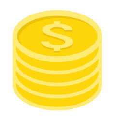 Coins of dollar flat icon business and finance vector