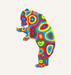 Colorfully bear vector