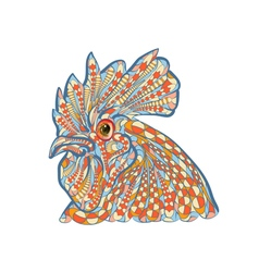 Ethnic rooster vector