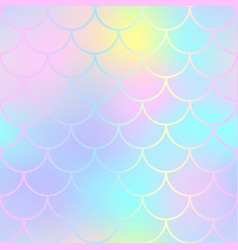 Fantastic fish skin pattern with scale ornament vector