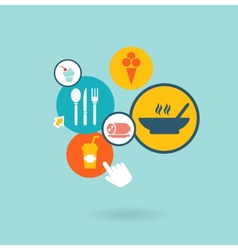 food composition of the icons vector image vector image