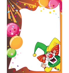 funny clown card vector image