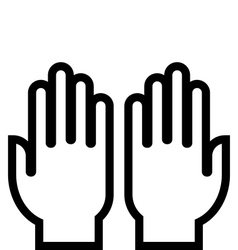 Hands outline icon vector image vector image