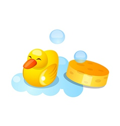 icon duck rubber vector image