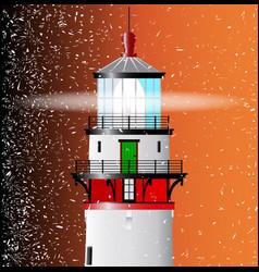 Lighthouse lens vector