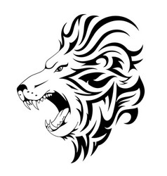 lion tribal tattoo design vector image vector image