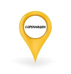 Location copenhagen vector