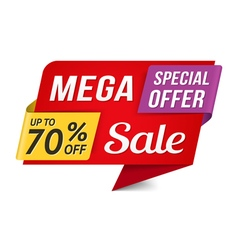 Mega sale vector