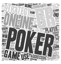 online poker strategy 1 text background wordcloud vector image vector image
