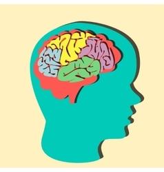 Paper brain vector image vector image