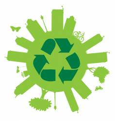recycle on the globe vector image