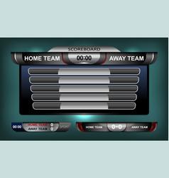 Scoreboard elements football vector
