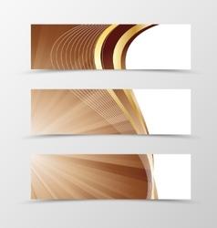 Set of banner vortex design vector image vector image