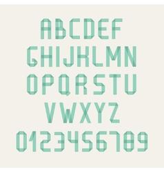 Simple colorful font complete abc alphabet set vector