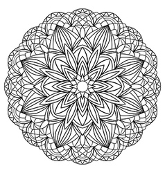 Simple geometric mandala vector