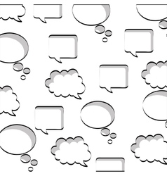 speech bubbles set isolated icon vector image