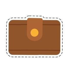 Wallet money travel cut line vector