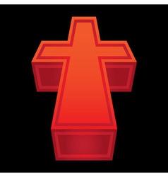 3d symbol christian cross - vector image