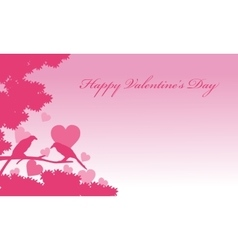 Valentine day romance bird backgrounds vector