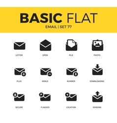 Basic set of email icons vector