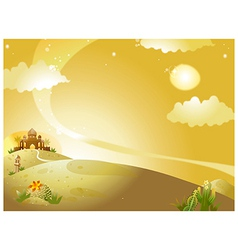 Palace landscape background vector