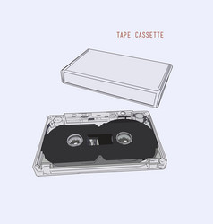 Vintage audio tape cassette vector